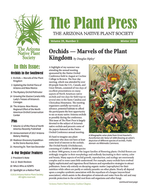 The Plant Press The Arizona Native Plant Society